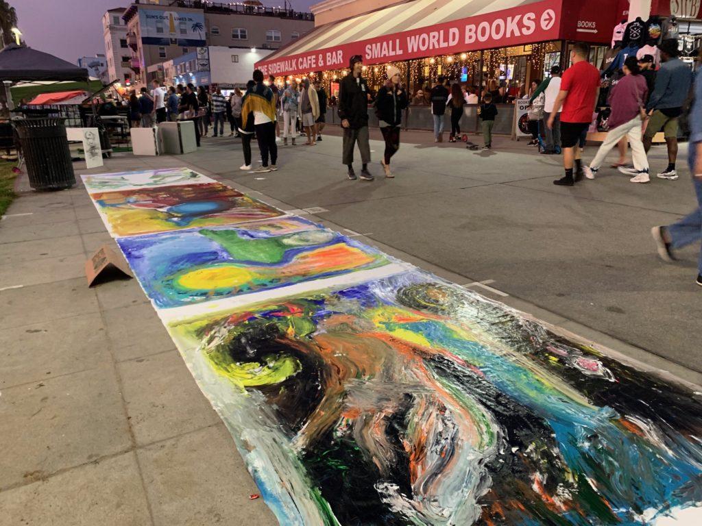 1001SOUL  – Soul Painting auf dem Boardwalk, Zirkus von Venice Beach, L.A., Kalifornien